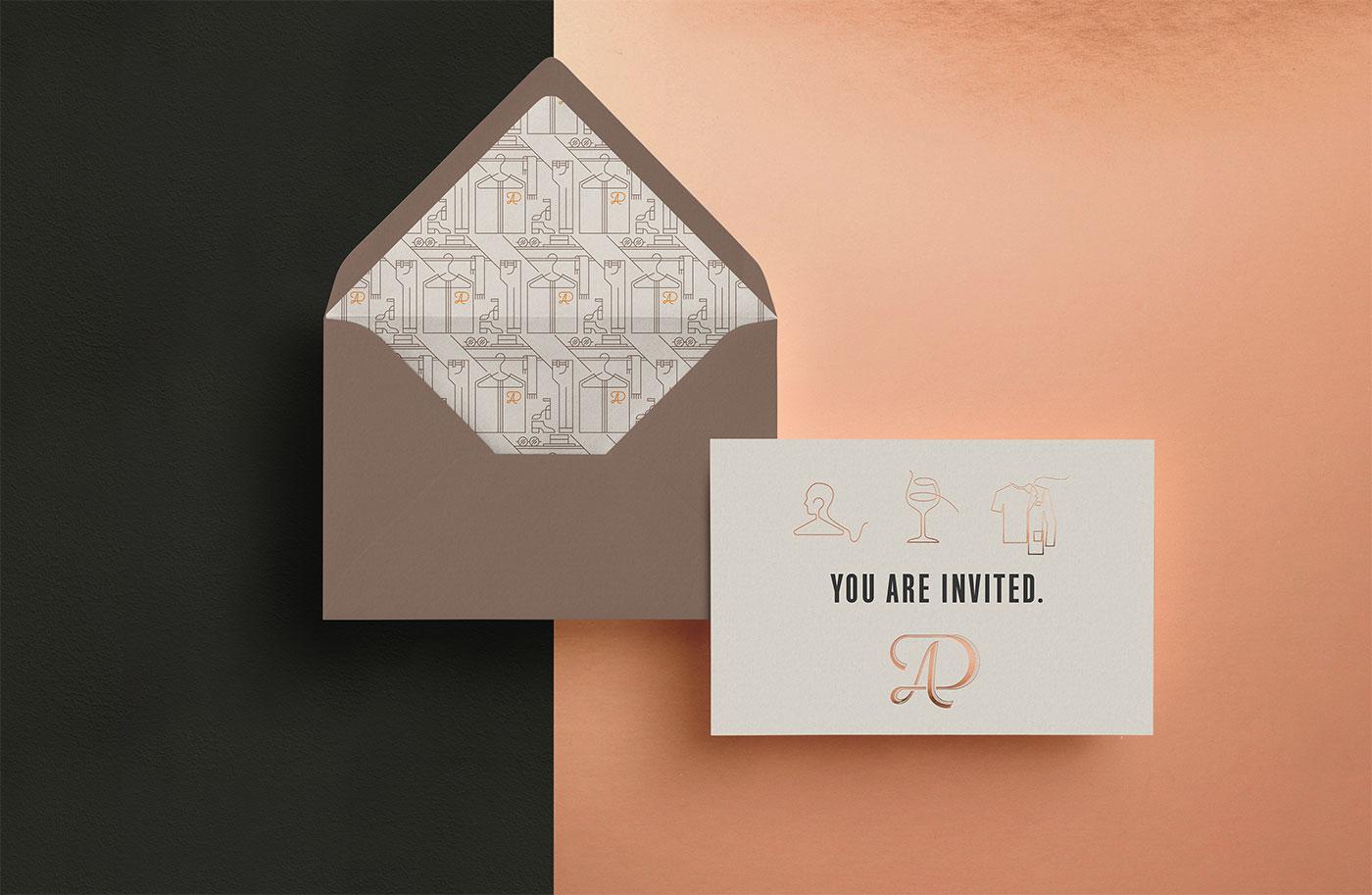 Outfit Branding Dominique Aimée Stationery Envelopes