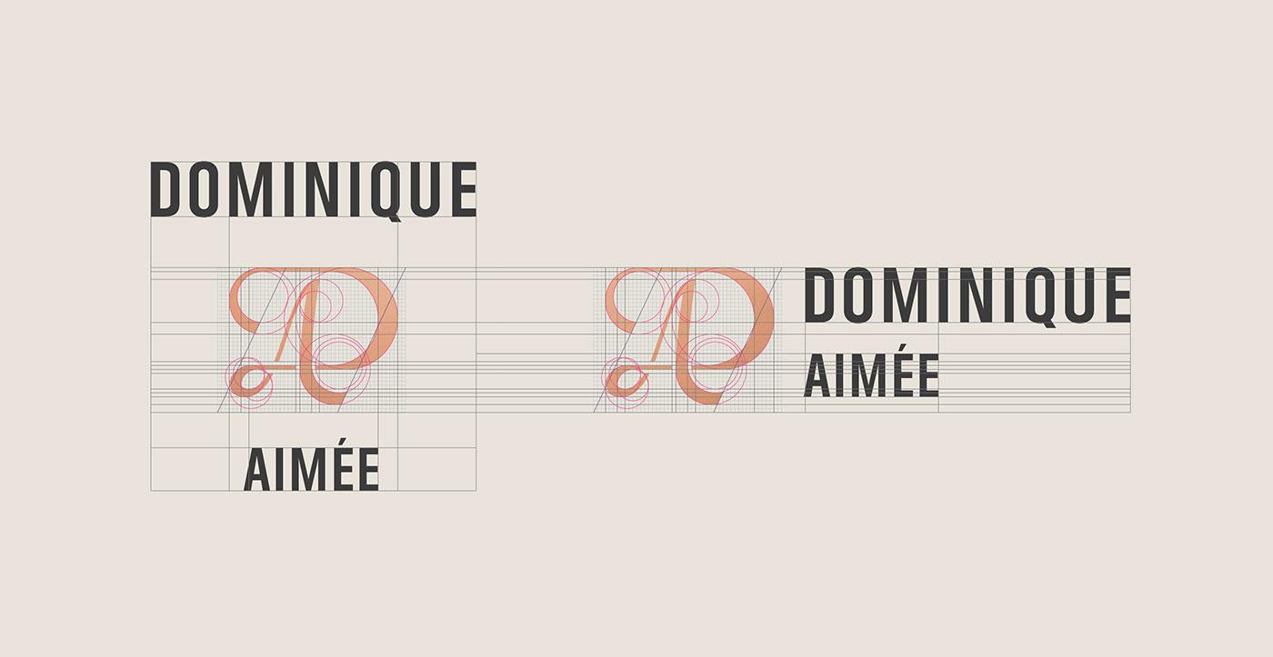 Outfit Branding Dominique Aimée Logo Grid