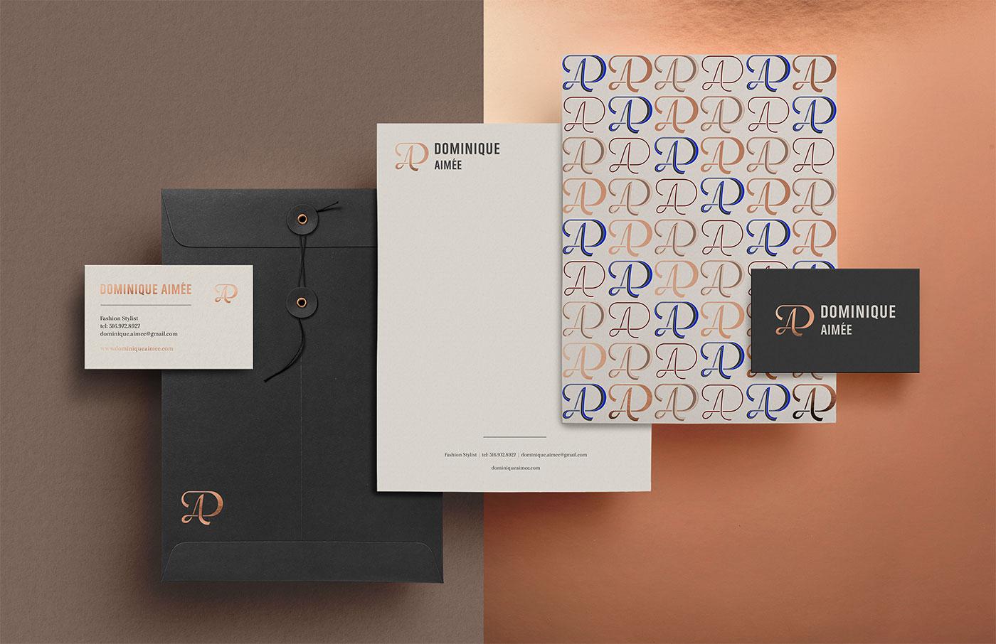Outfit Branding Dominique Aimée Stationery Letterhead Cards