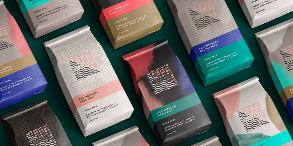 Outfit Branding Beanfolk Coffee Bags Packaging Design