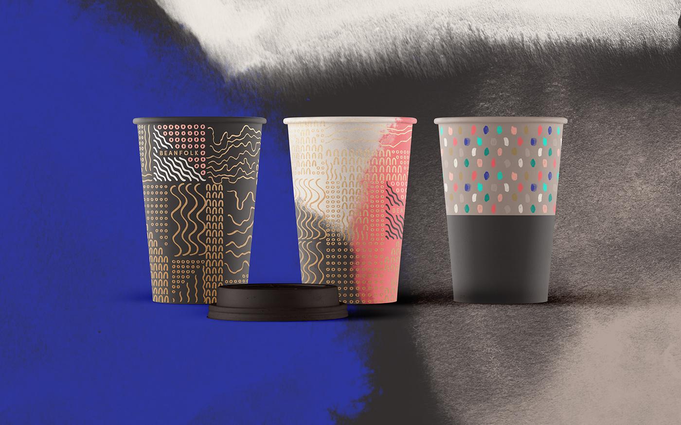 Outfit Branding Beanfolk Paper Cups Design