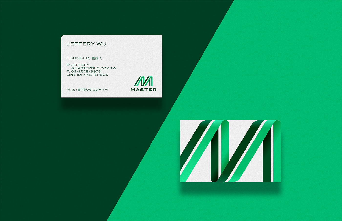 Outfit Branding & Design Master Bus Manufacturing Business Cards