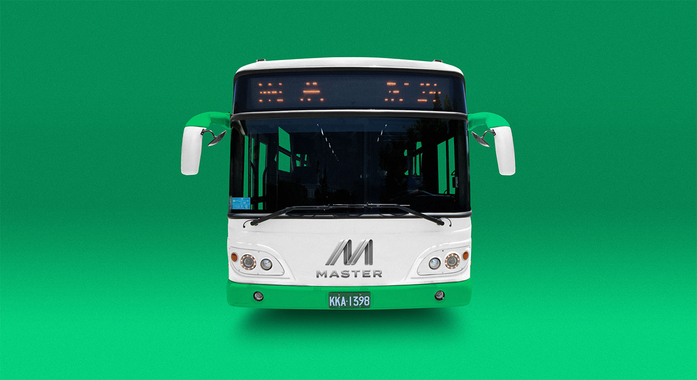 Outfit Branding & Design Master Bus Manufacturing Bus Livery Front