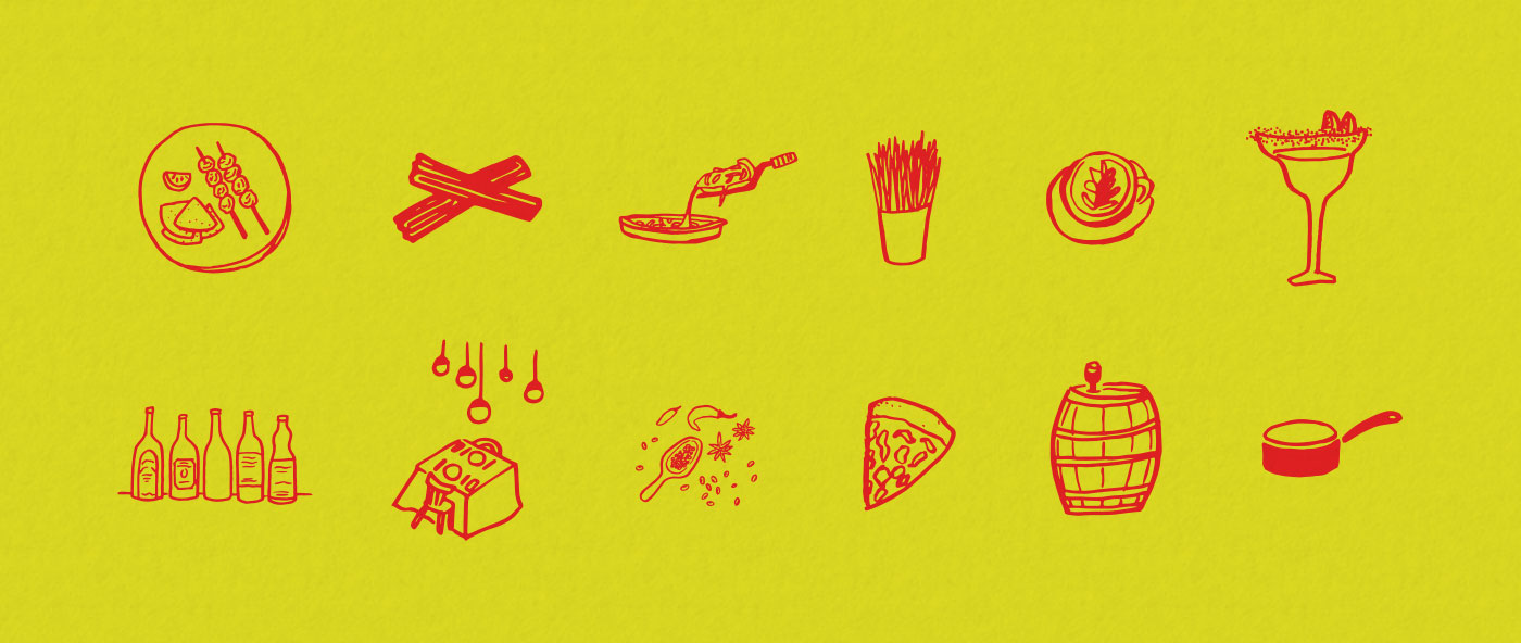 Outfit Branding & Design Buenos Aires Guidebook Layout & Illustration Food