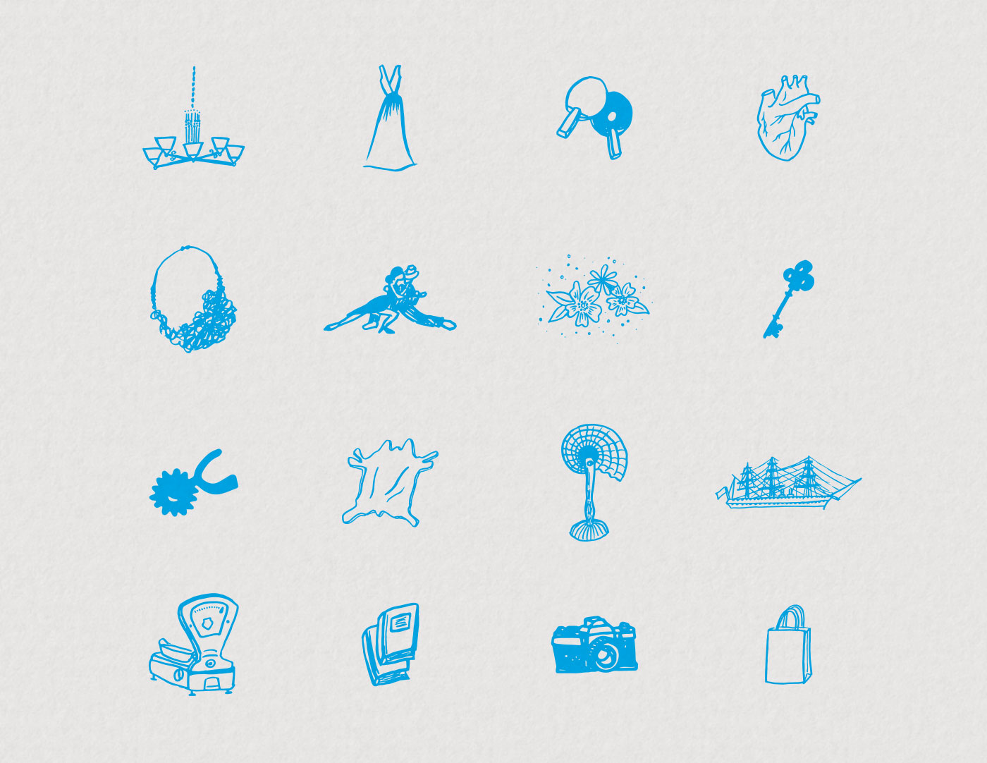 Outfit Branding & Design Buenos Aires Guidebook Layout & Illustration Icons
