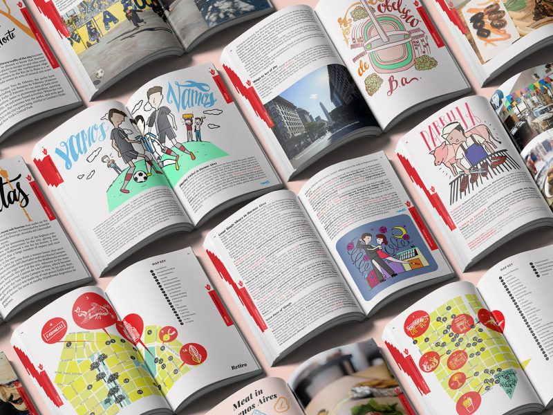 Outfit Branding & Design Buenos Aires Guidebook Layout & Illustration Multiple