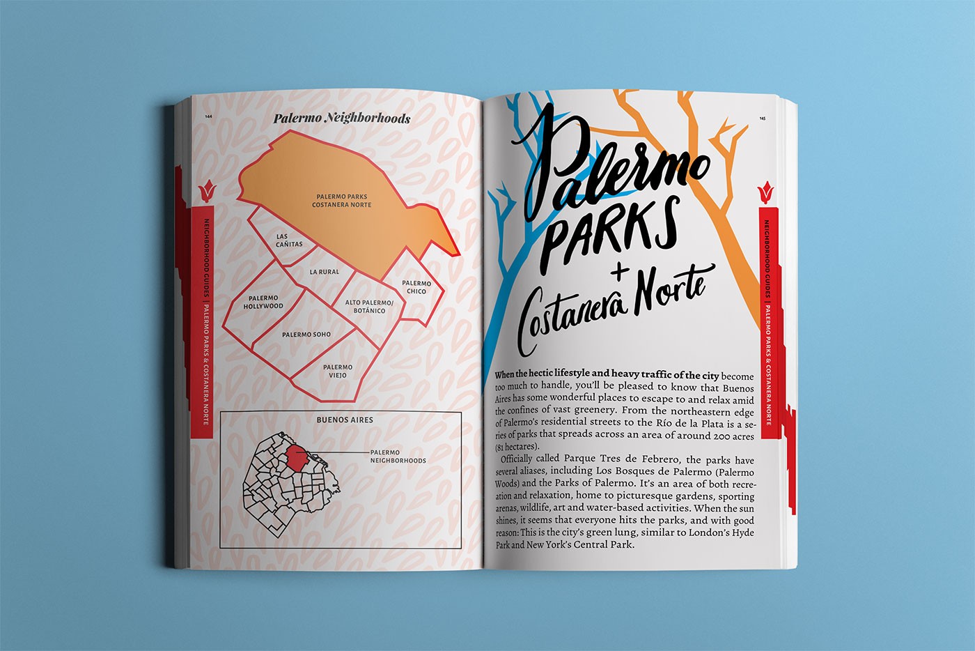 Outfit Branding & Design Buenos Aires Guidebook Layout & Illustration Chapter Title