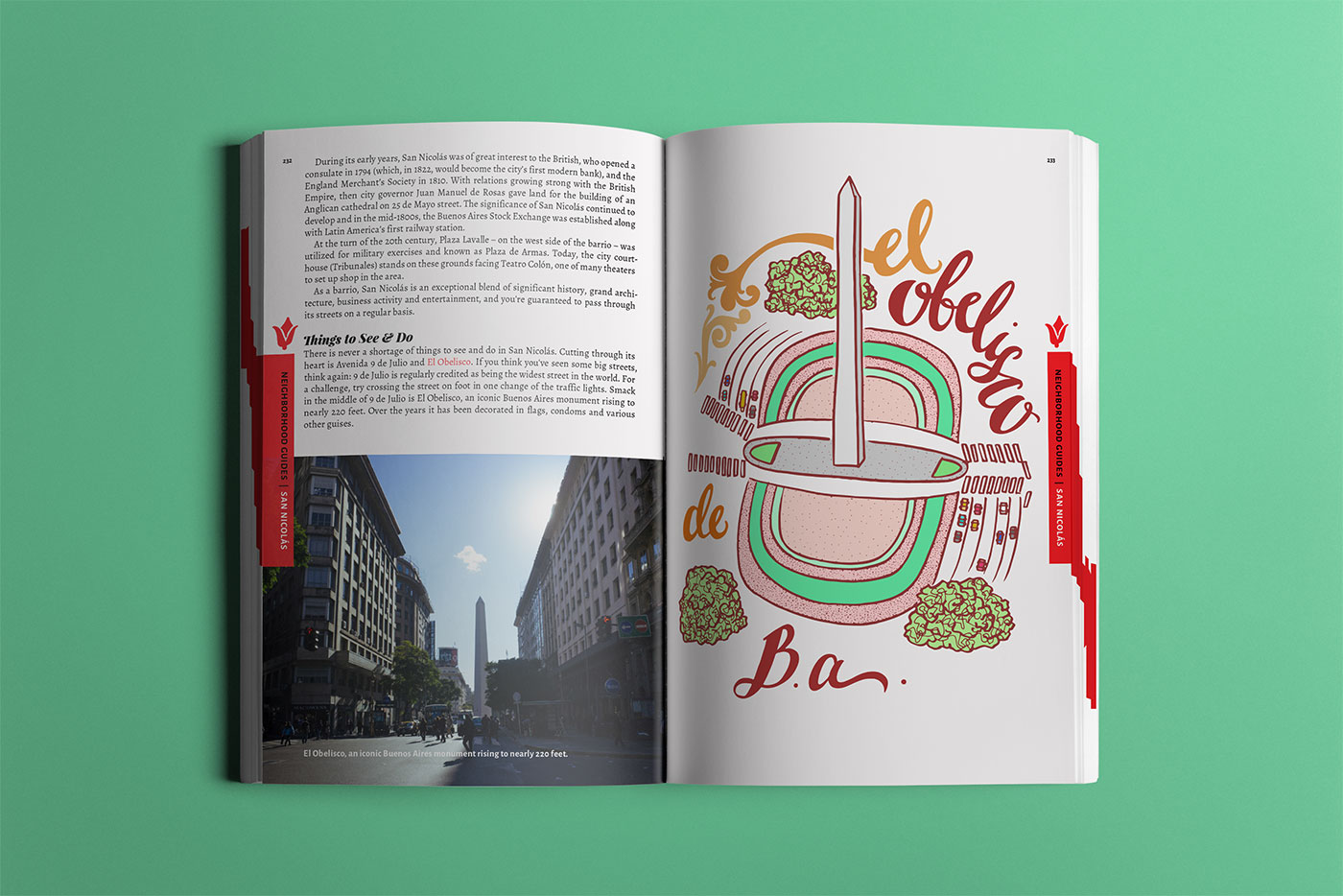 Outfit Branding & Design Buenos Aires Guidebook Layout & Illustration