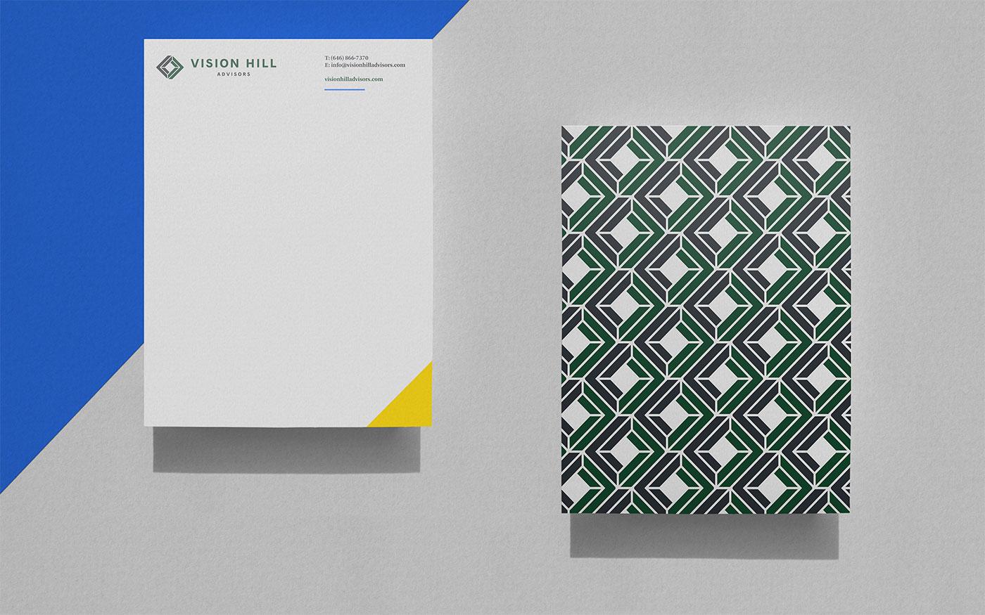 Outfit Branding & Design Vision Hill Advisors Letterhead
