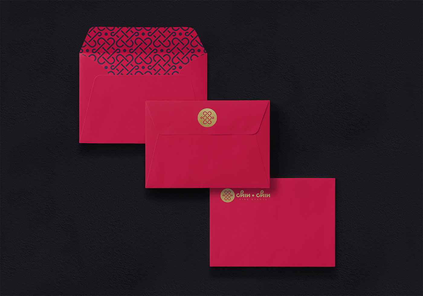 Outfit Branding & Design Chin Chin Fine Events Envelopes