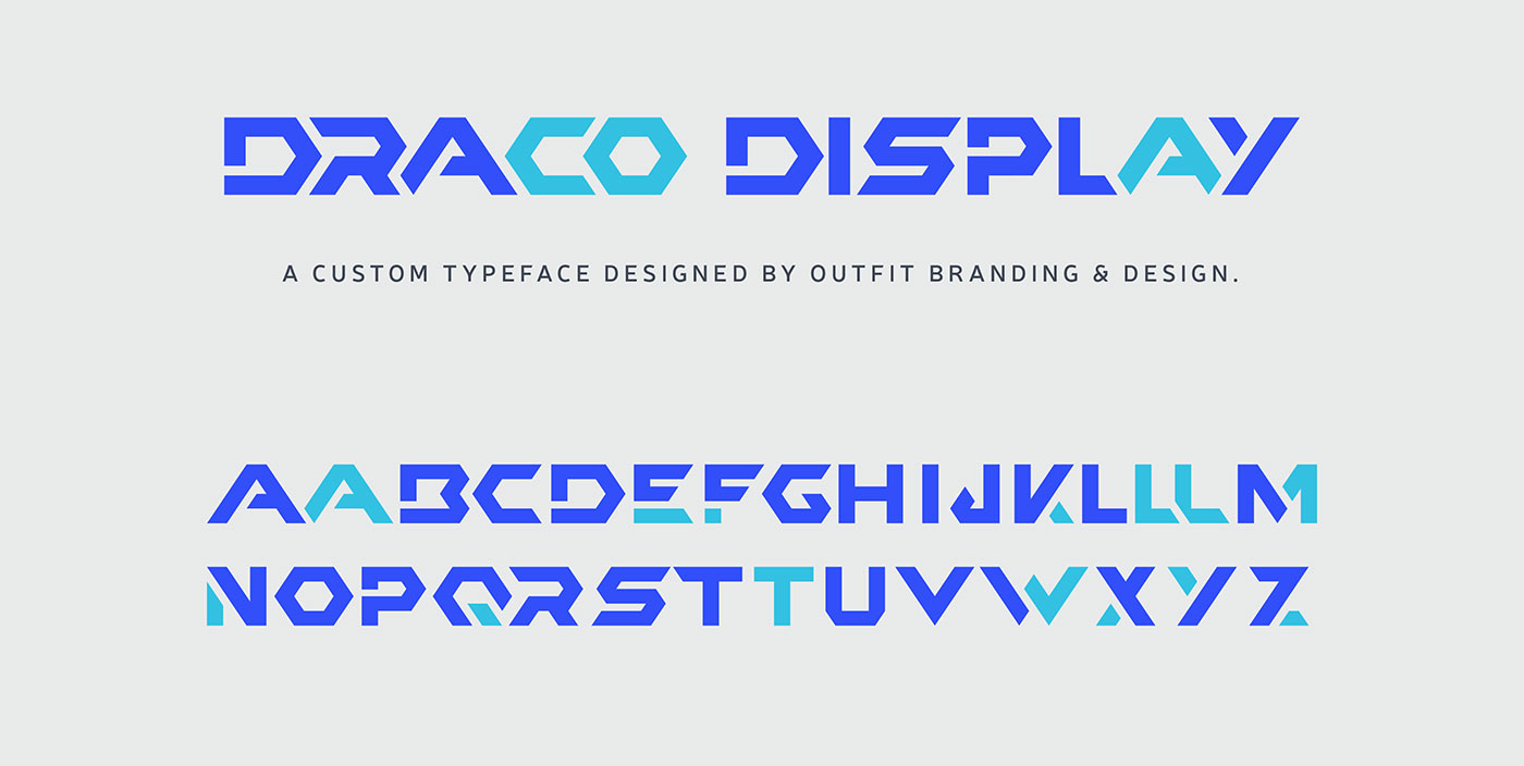 Outfit Branding & Design Draco Custom Display Typography