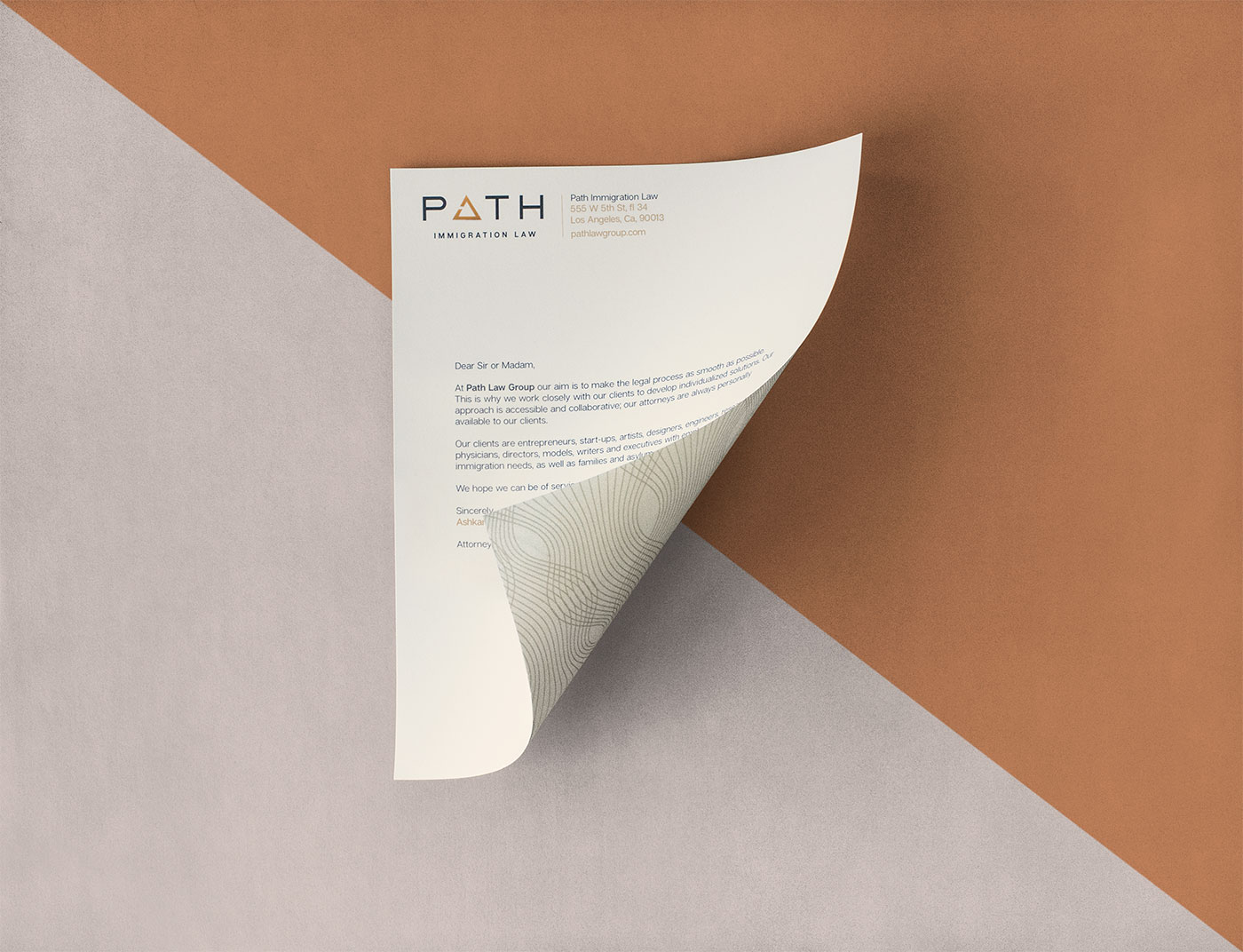 Outfit Branding & Design Path Law Letterhead