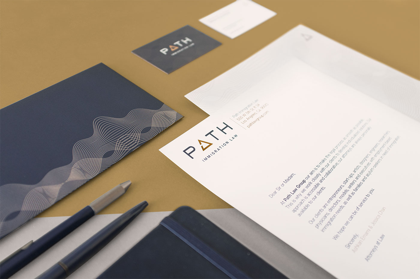 Outfit Branding & Design Path Law Stationery