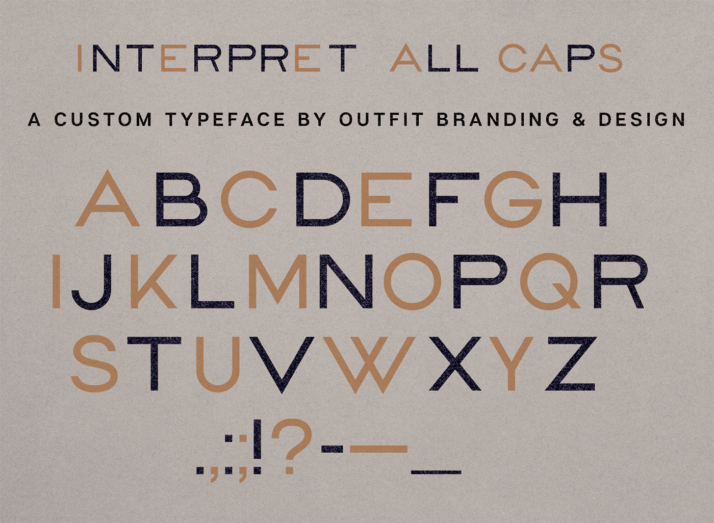 Outfit Branding & Design Path Law Custom Typography Interpret