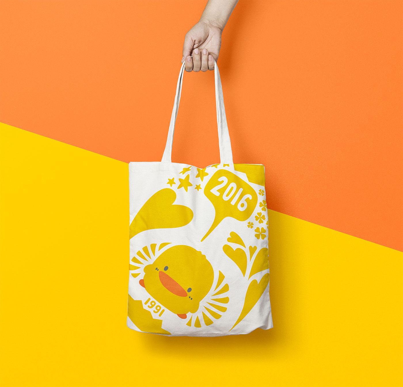 Outfit Branding & Design Piyo Piyo Logo Tote