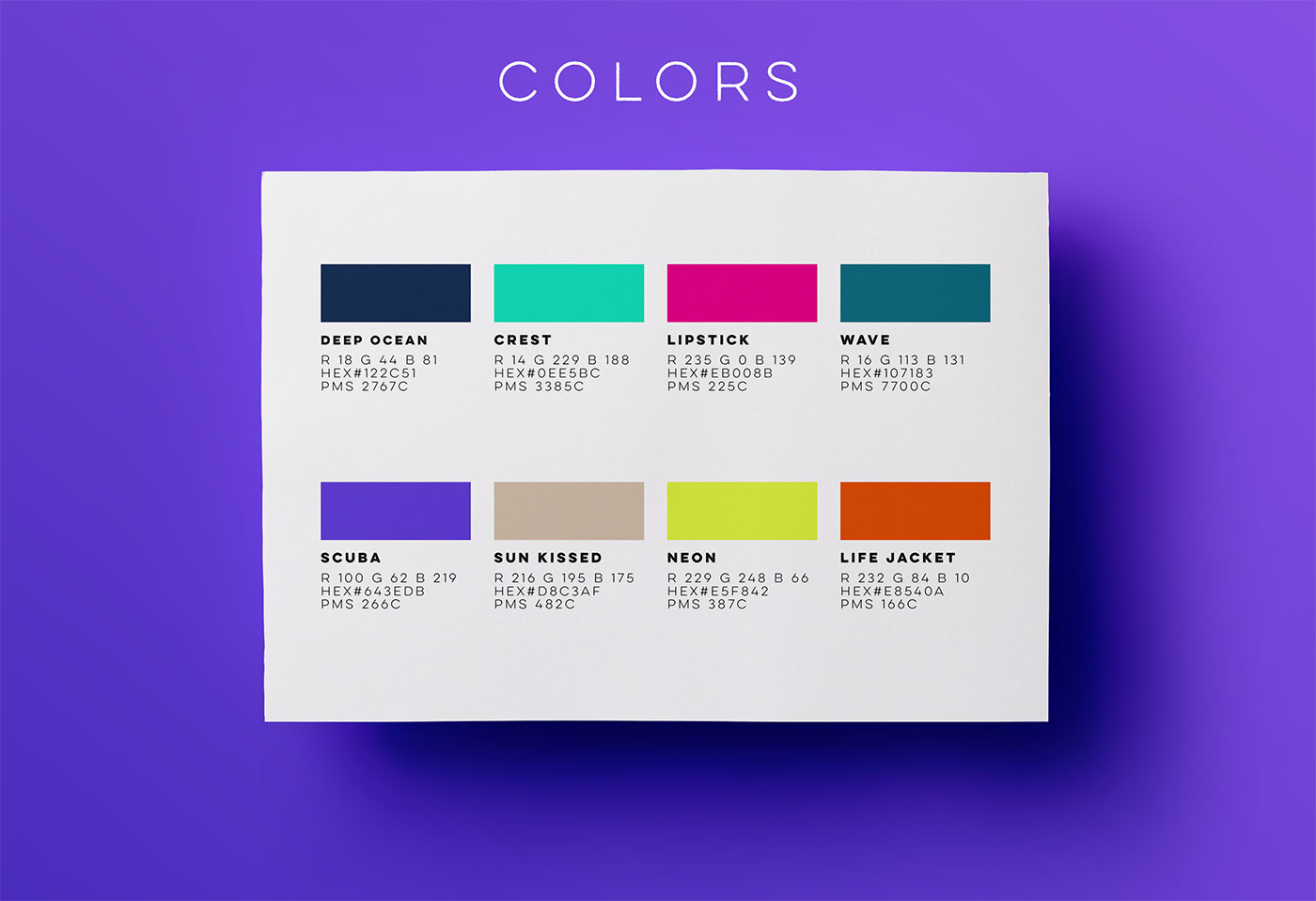 Outfit Branding & Design Fleeps Colors