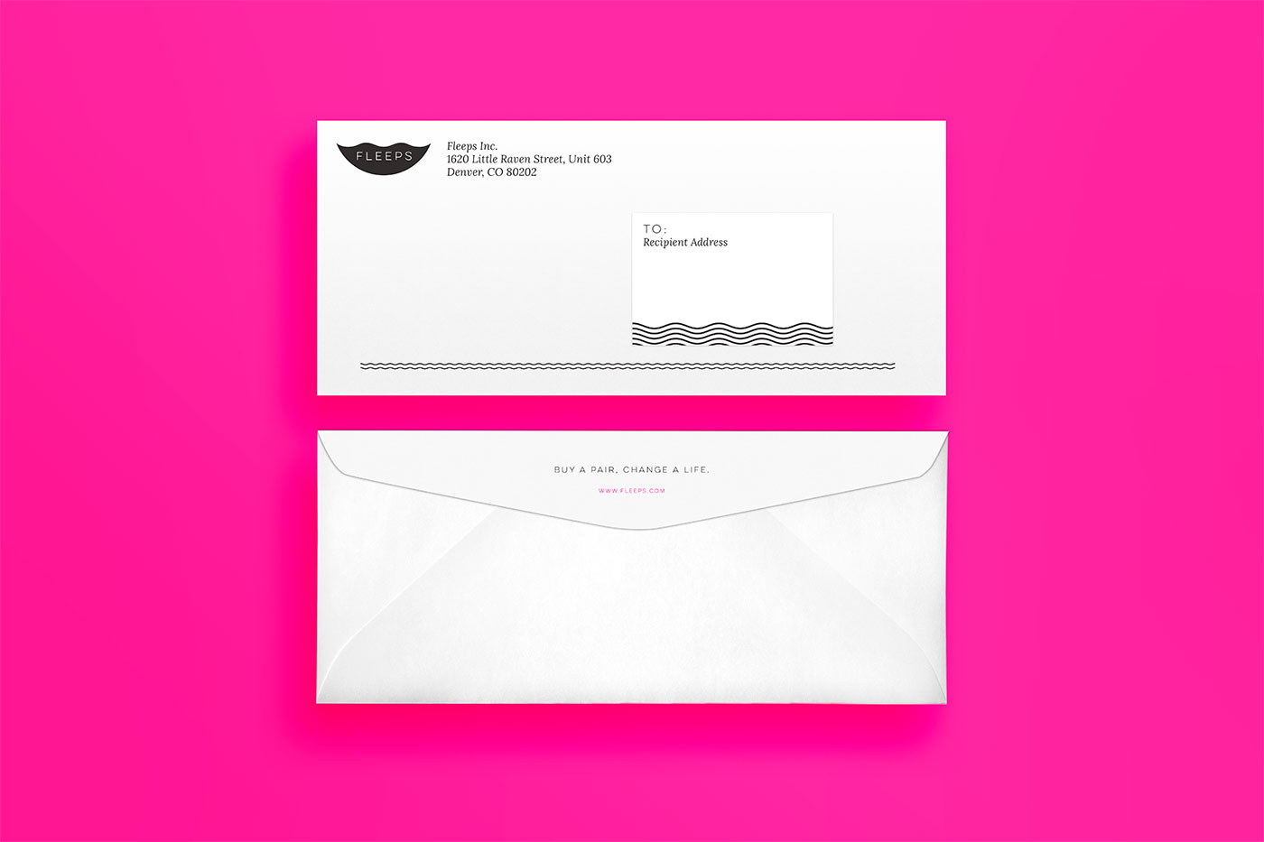 Outfit Branding & Design Fleeps Envelopes