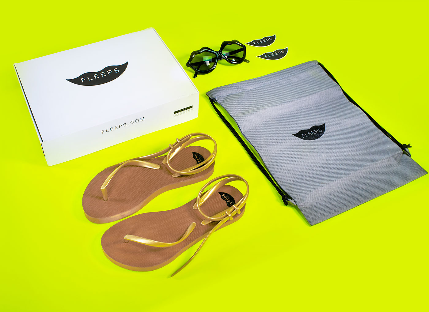 Outfit Branding & Design Fleeps Packaging Sandals