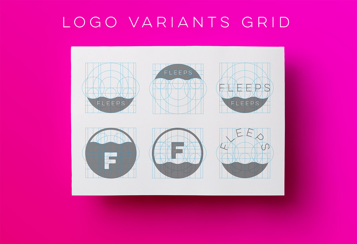 Outfit Branding & Design Fleeps Logo Variants Grid