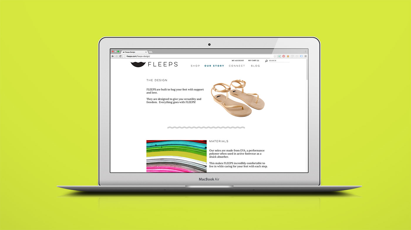 Outfit Branding & Design Fleeps Website