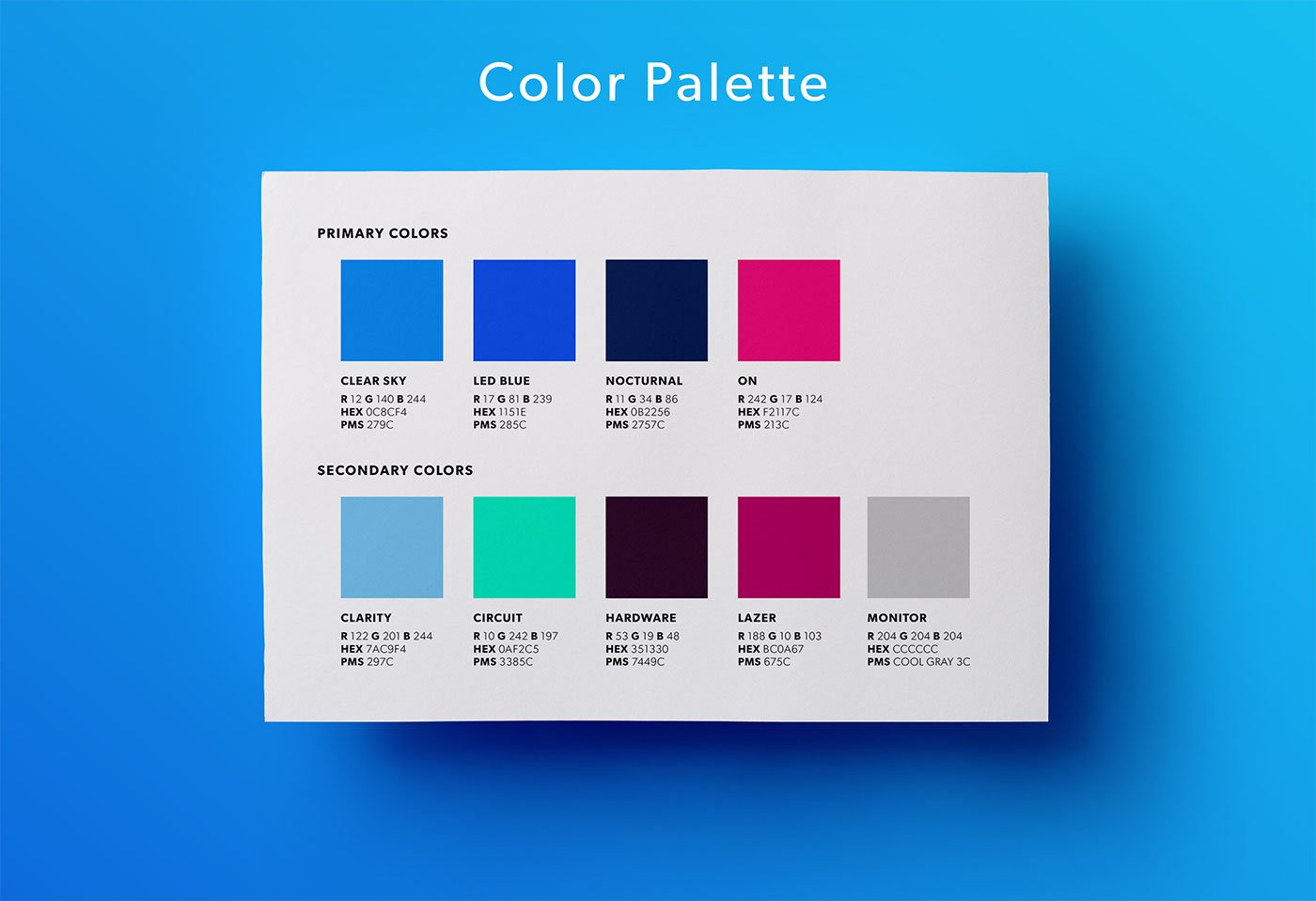 Outfit Branding & Design GroundWorks Color Palette