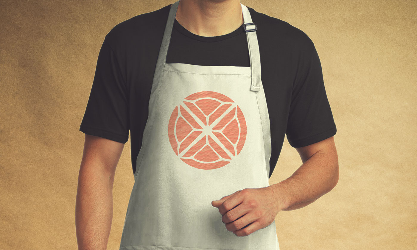Outfit Branding & Design Let's Eat Apron