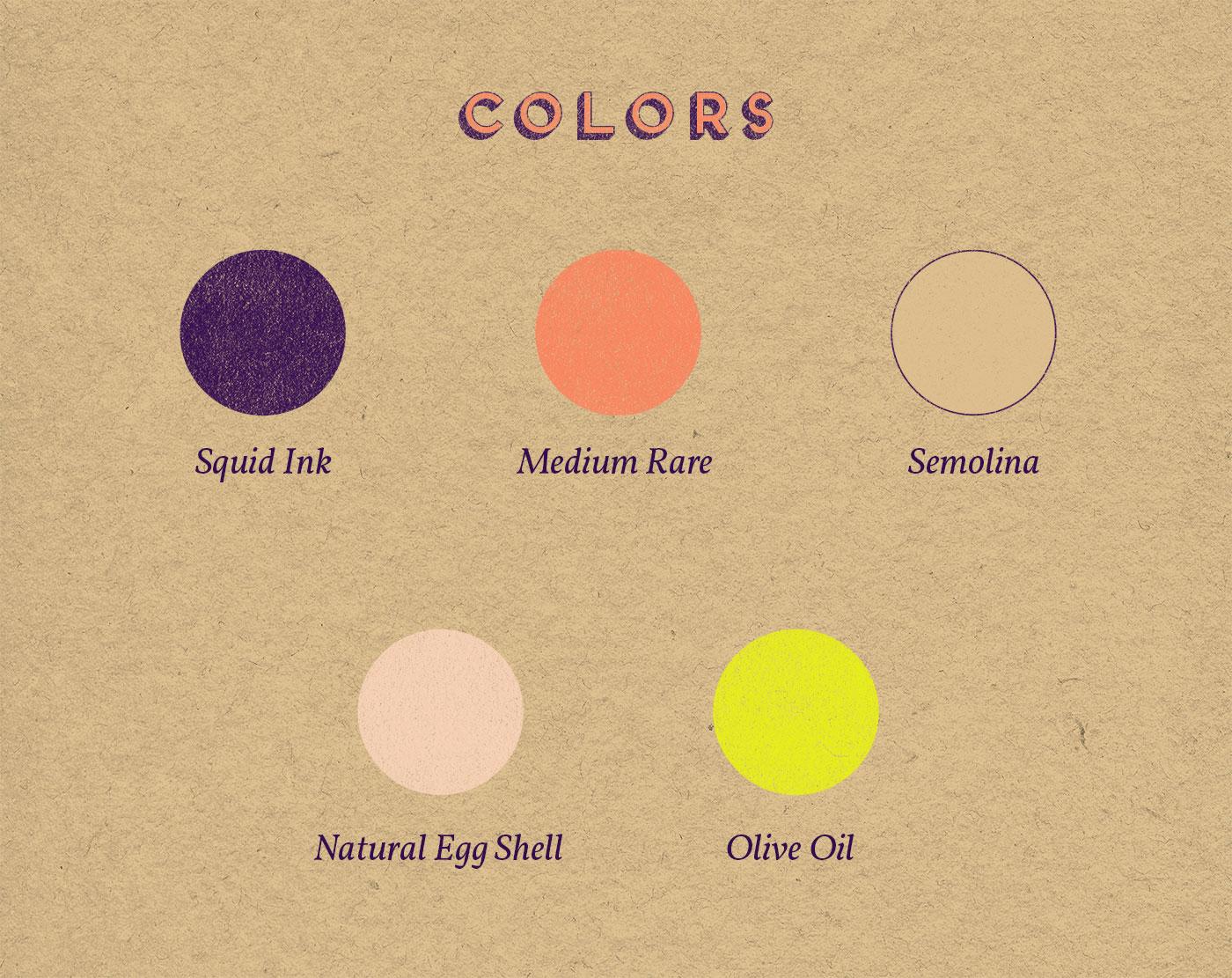 Outfit Branding & Design Let's Eat Logo Palette