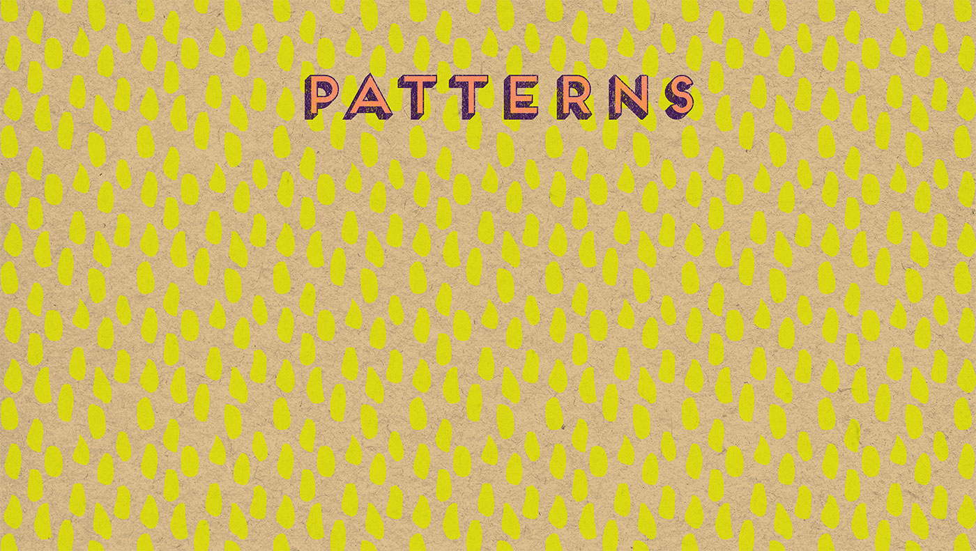 Outfit Branding & Design Let's Eat Patterns