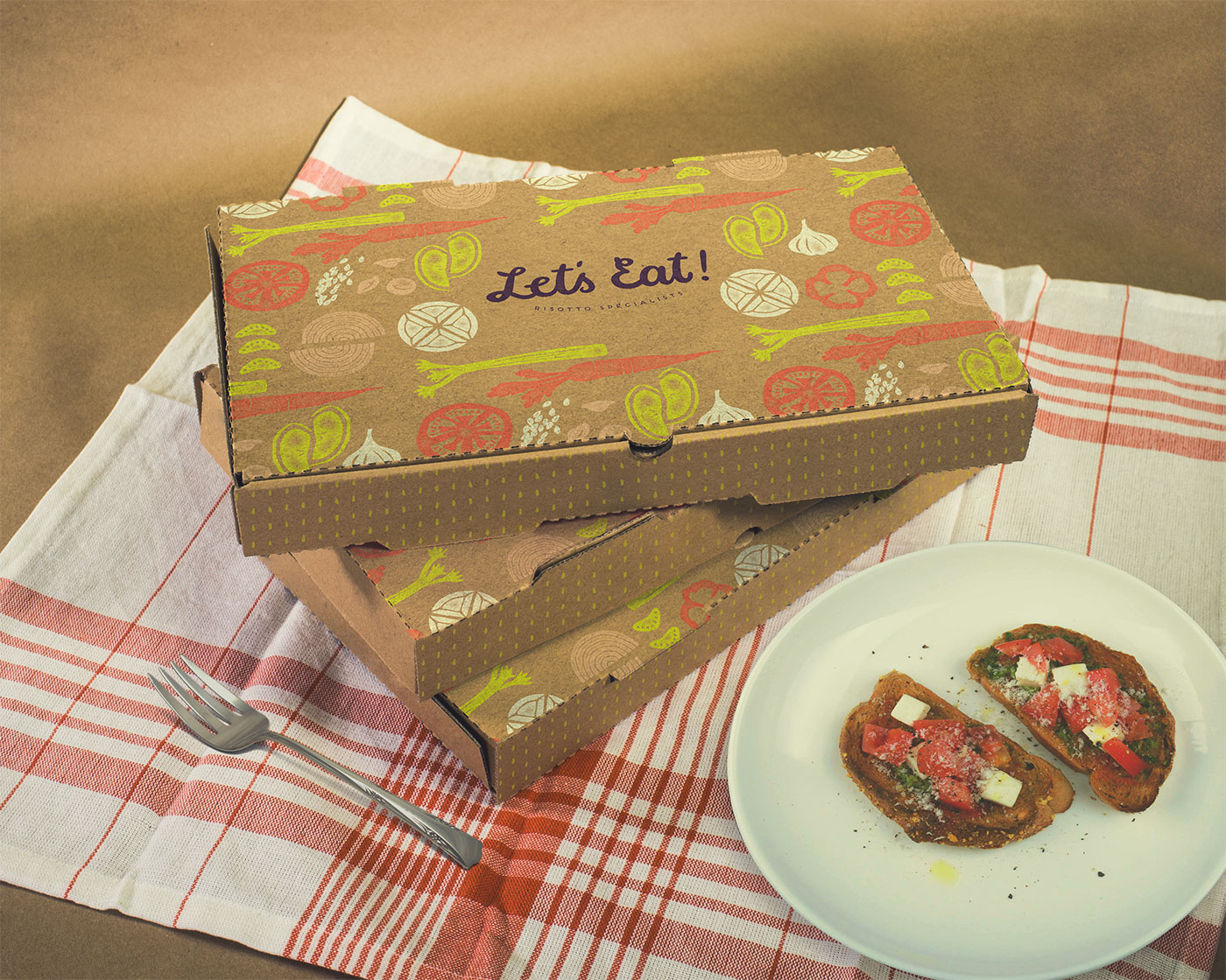 Outfit Branding & Design Let's Eat Boxes