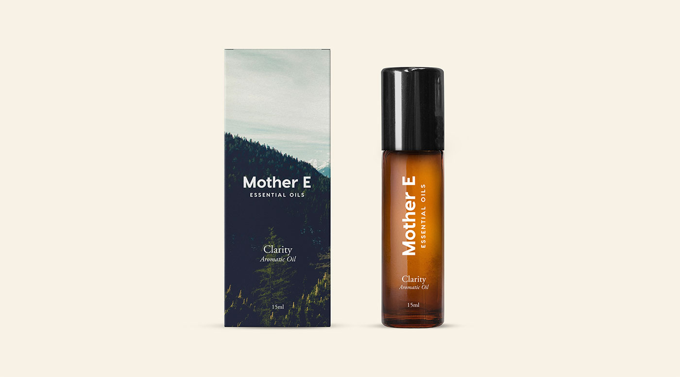 Outfit Branding & Design Mother E Packaging Concept Oil Box and Roll-on Bottles