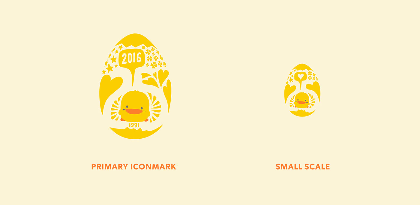 Outfit Branding & Design Piyo Piyo Logo Scale