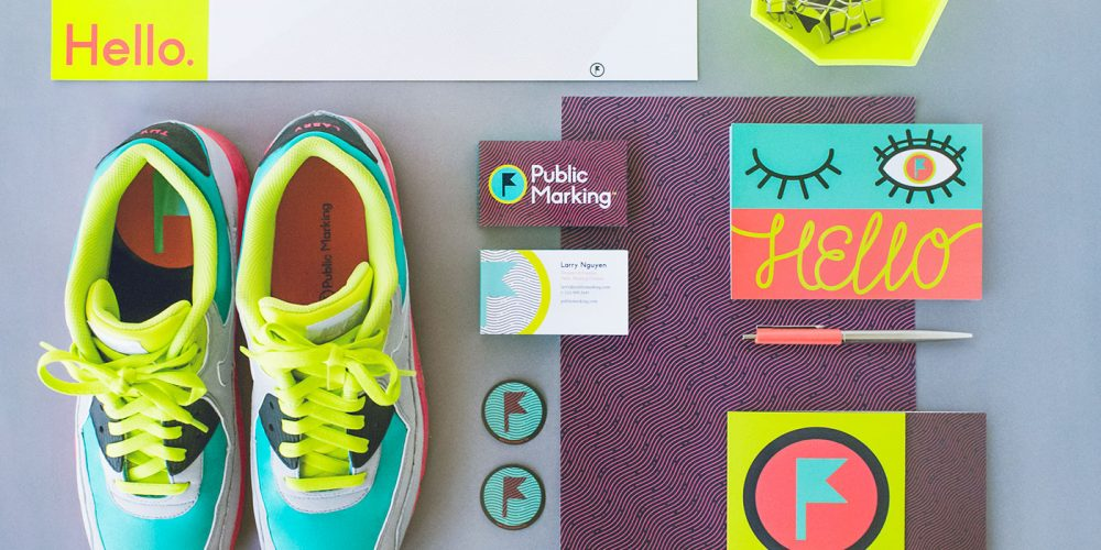 Outfit Branding & Design Public Marking Stationery Sneakers