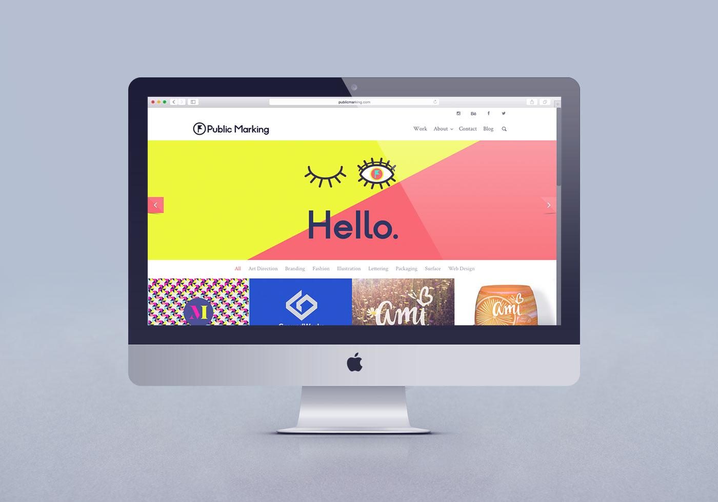 Outfit Branding & Design Public Marking Website