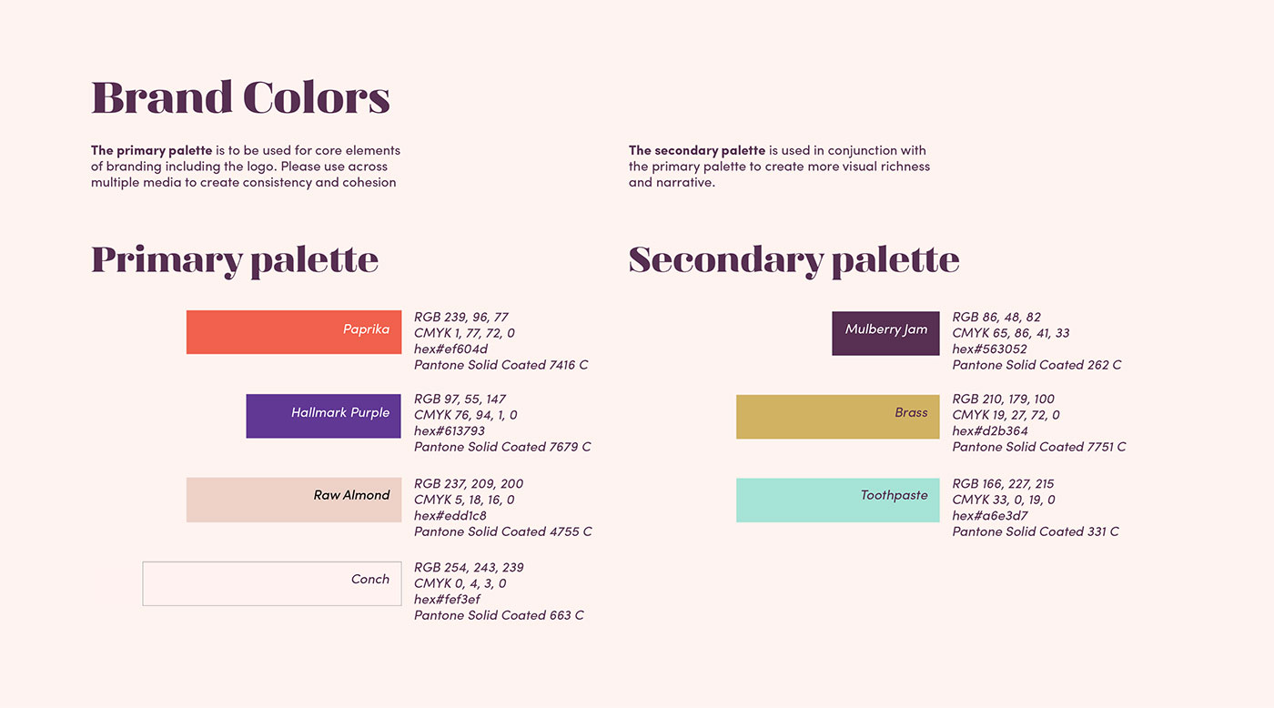 Outfit Branding & Design One of a Card Color Palette