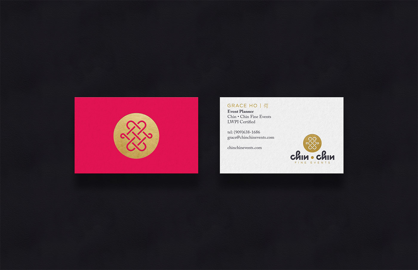 Outfit Branding & Design Chin Chin Fine Events Business Cards