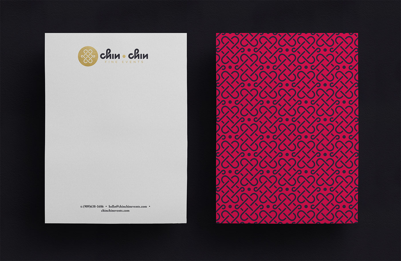 Outfit Branding & Design Chin Chin Fine Events Letterhead