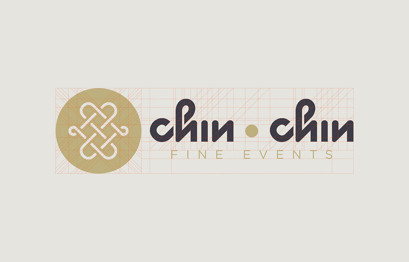 Outfit Branding & Design Chin Chin Fine Events Logo Grid