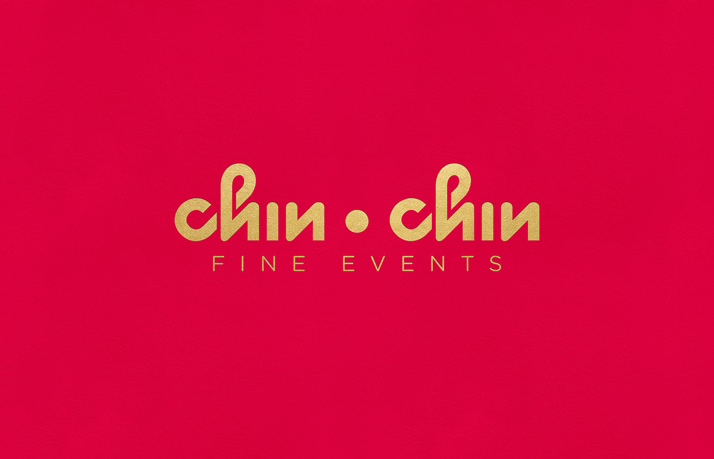 Outfit Branding & Design Chin Chin Fine Events Logo Wordmark