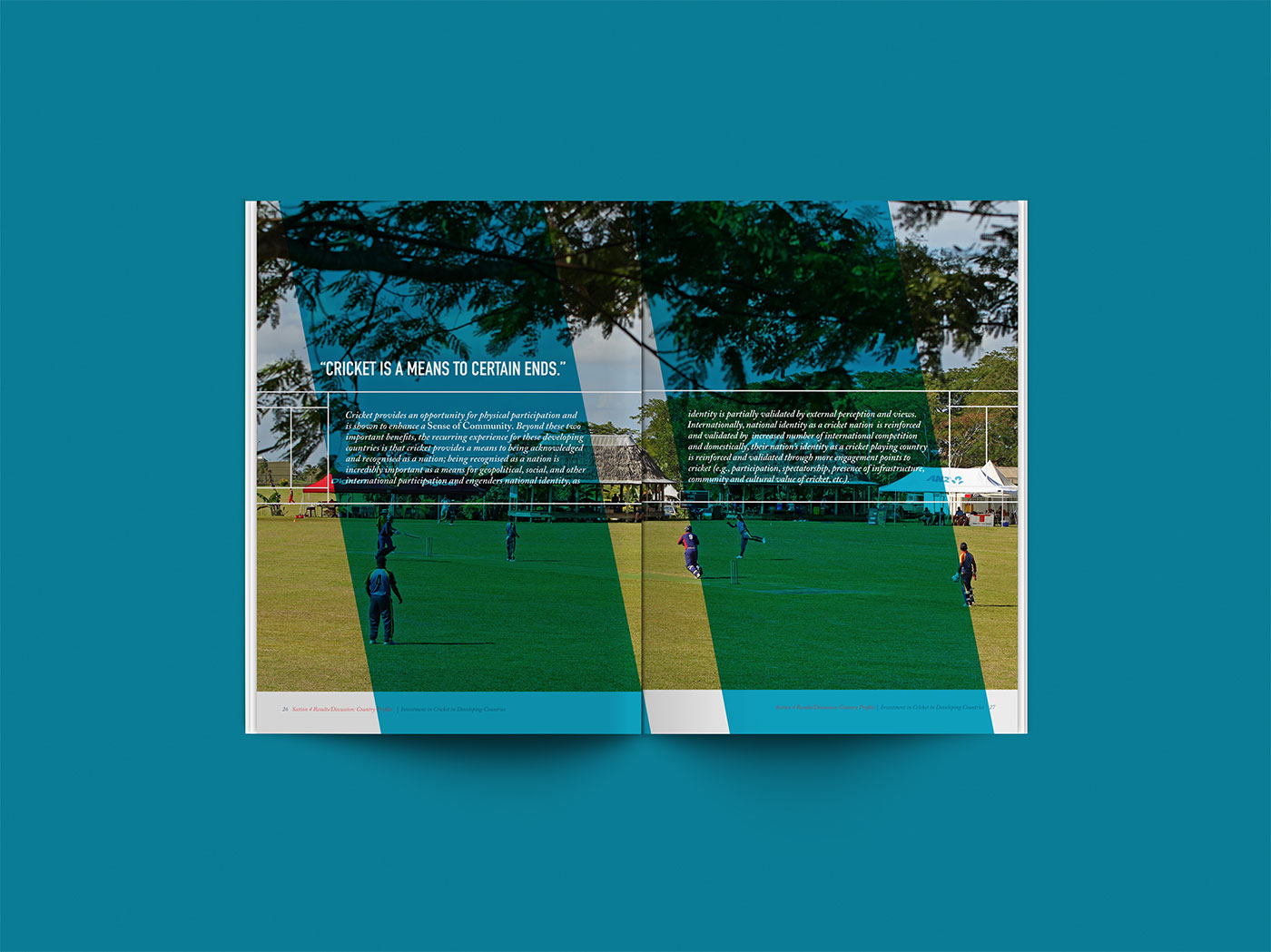 Outfit Branding & Design International Cricket Council Report Layout + Infographics