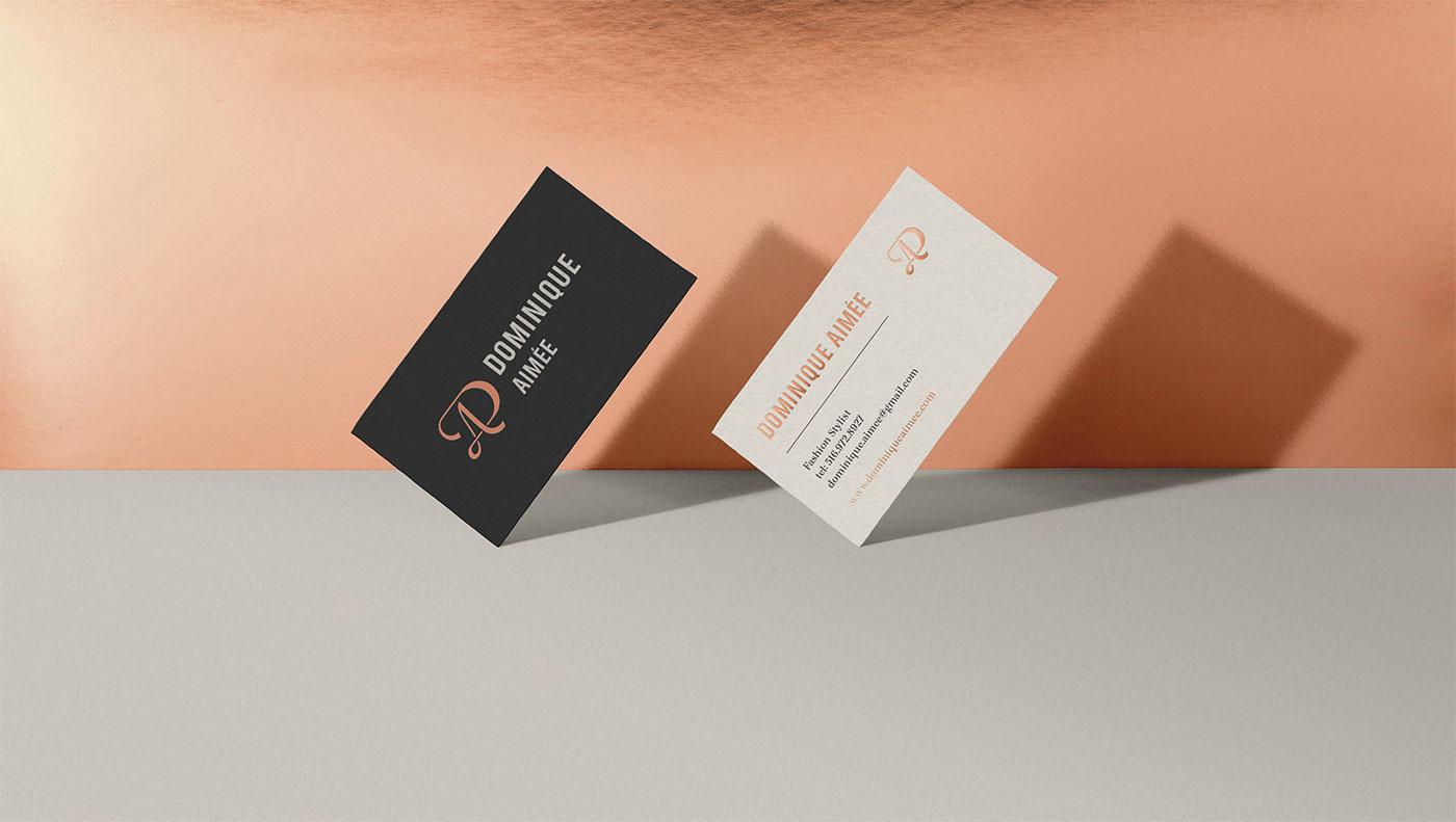 Outfit Branding Dominique Aimée Business Cards