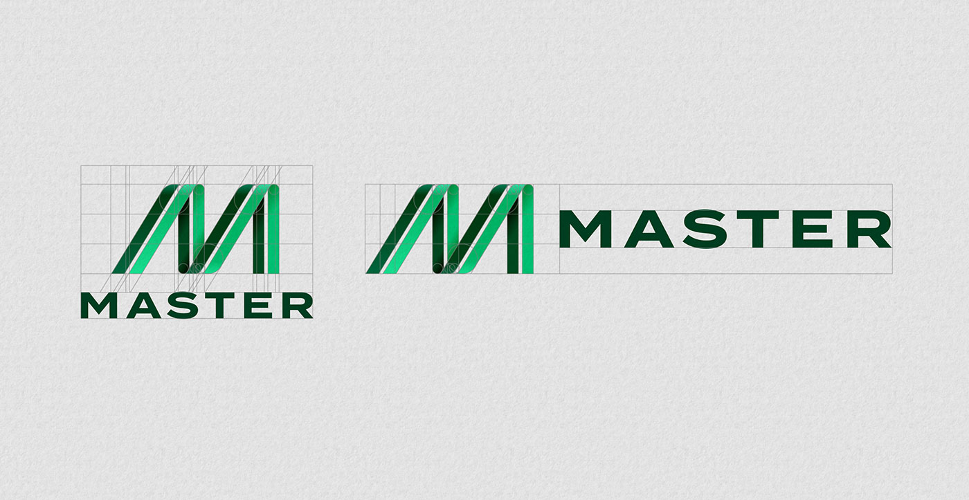 Outfit Branding & Design Master Bus Manufacturing Logo Grid