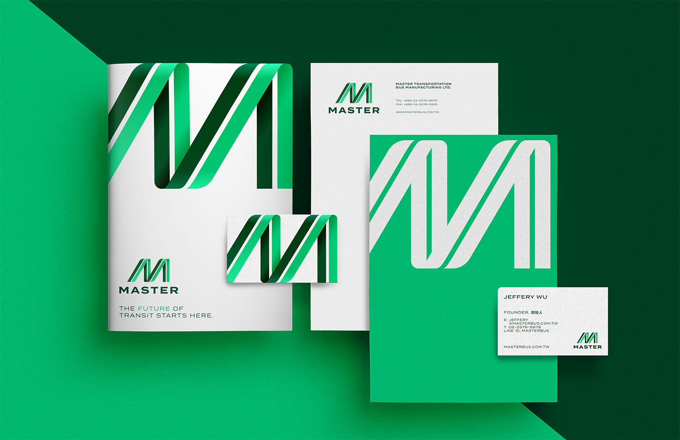Outfit Branding & Design Master Bus Manufacturing Stationery