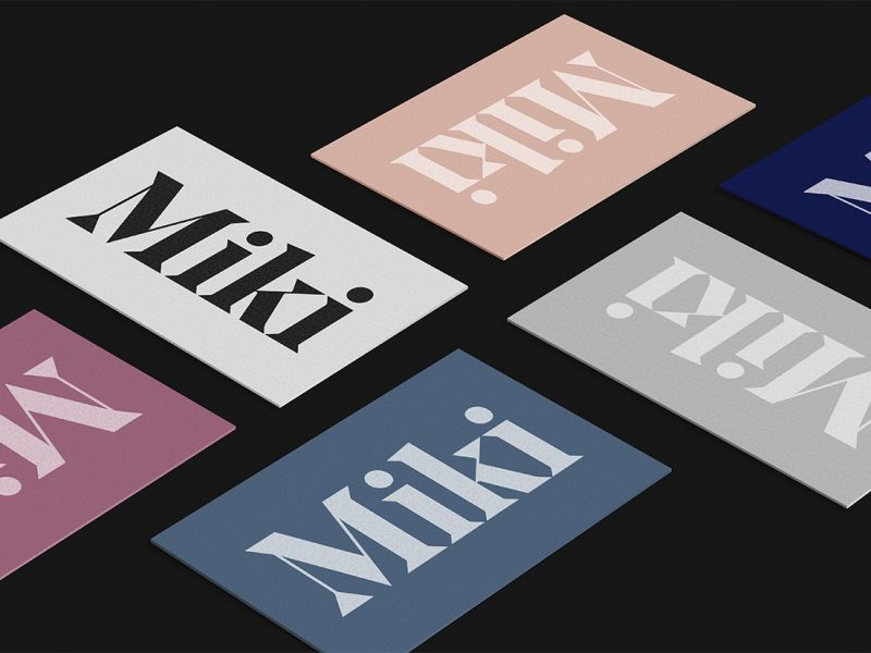 Outfit Branding & Design Miki Business Cards