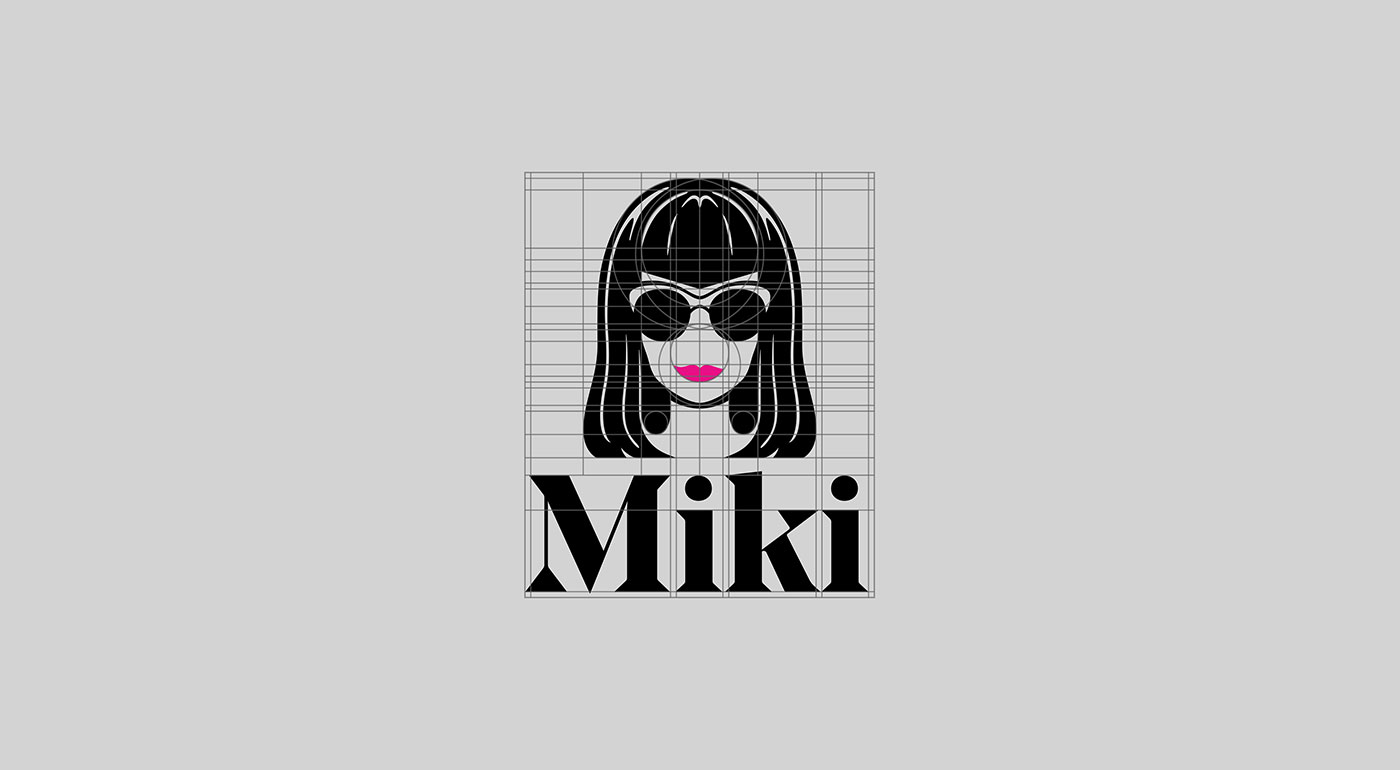 Outfit Branding & Design Miki Logo Grid
