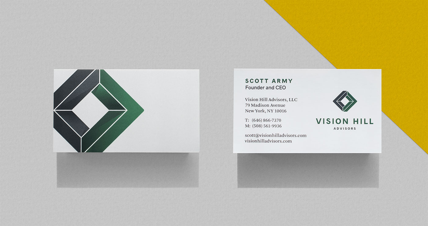 Outfit Branding & Design Vision Hill Advisors Business Cards