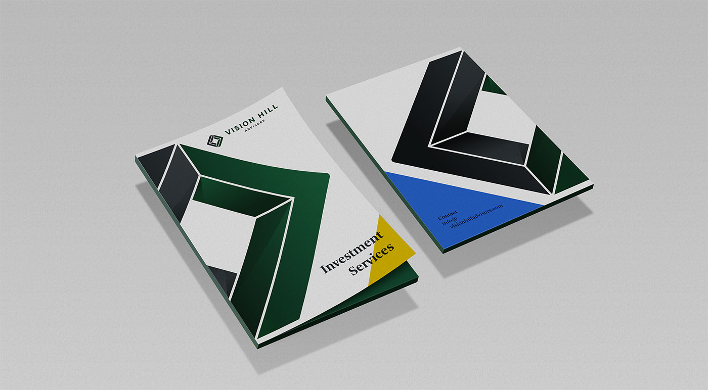 Outfit Branding & Design Vision Hill Advisors Graphic Folders