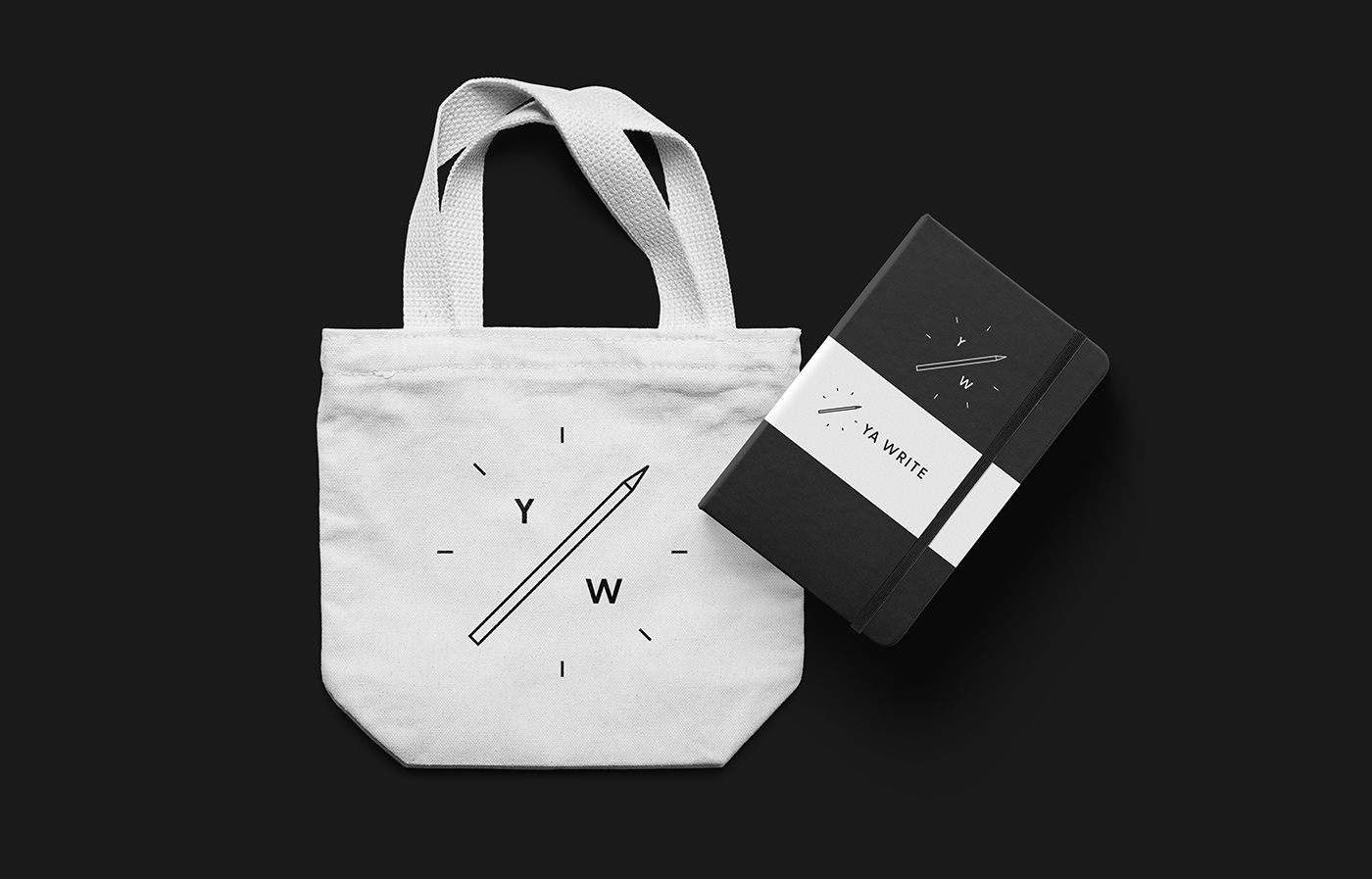 Outfit Branding & Design Ya Write Canvas Tote Bag + Notebook