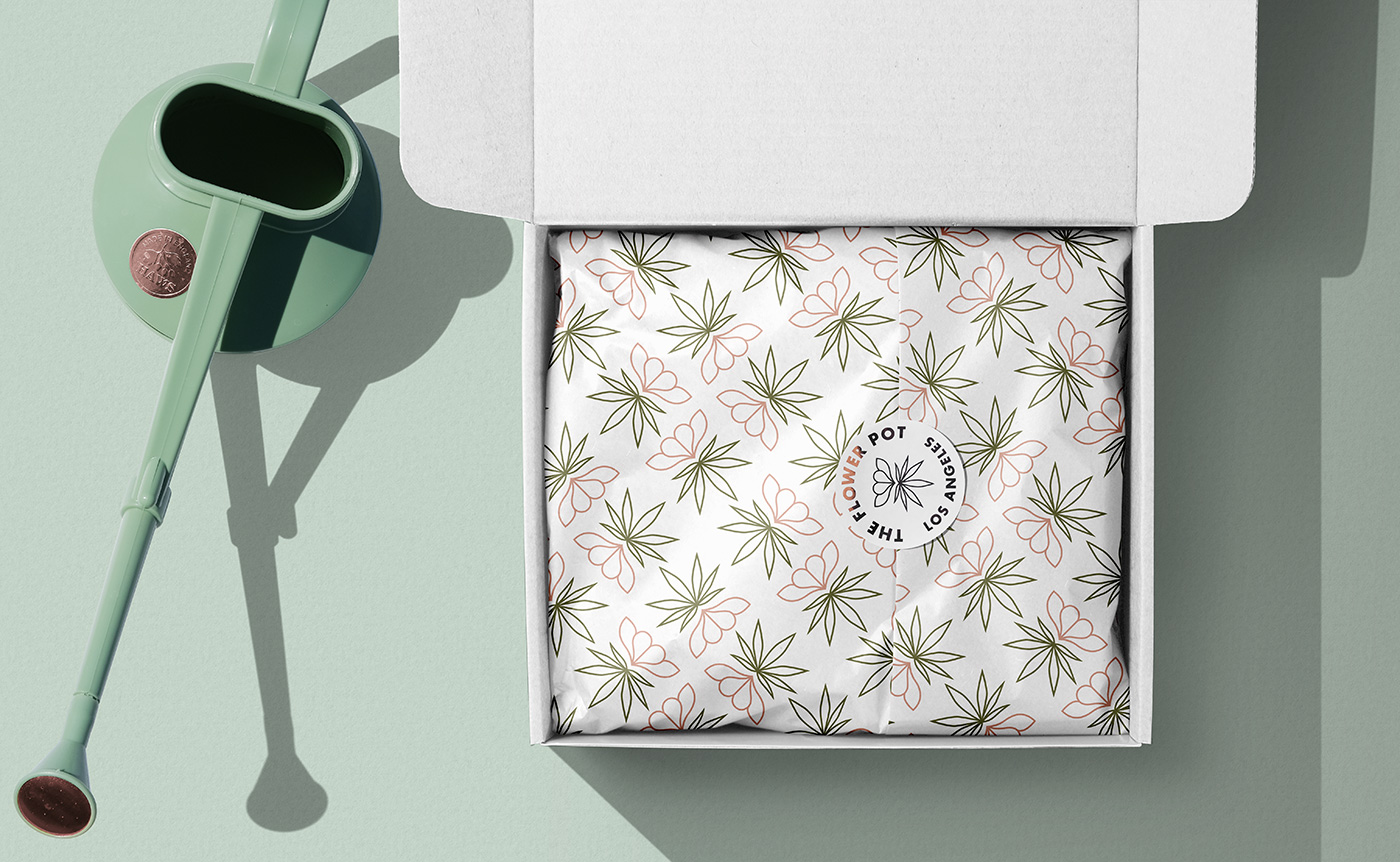 Outfit Branding & Design The Flower Pot Box + Wrapping Paper + Sticker