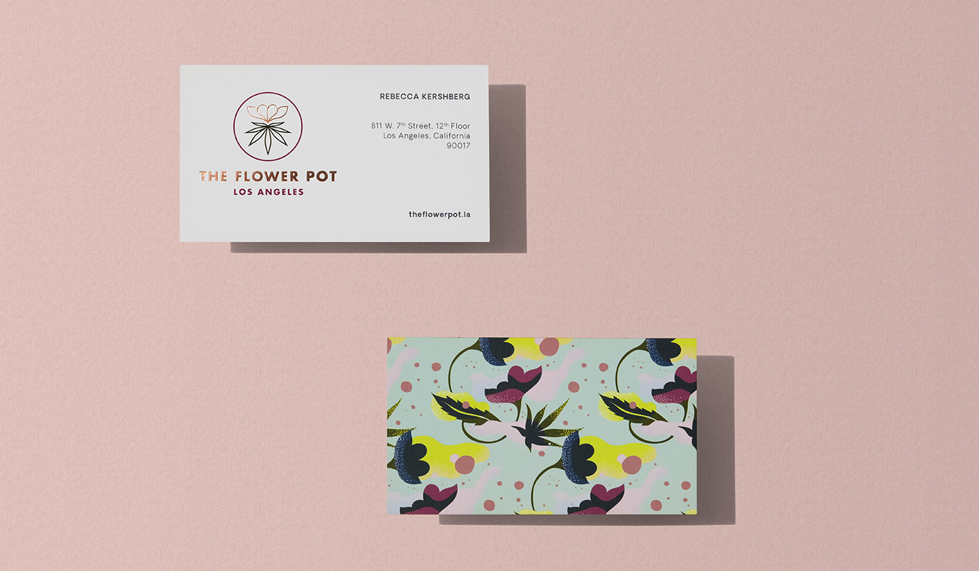 Outfit Branding & Design The Flower Pot Business Cards