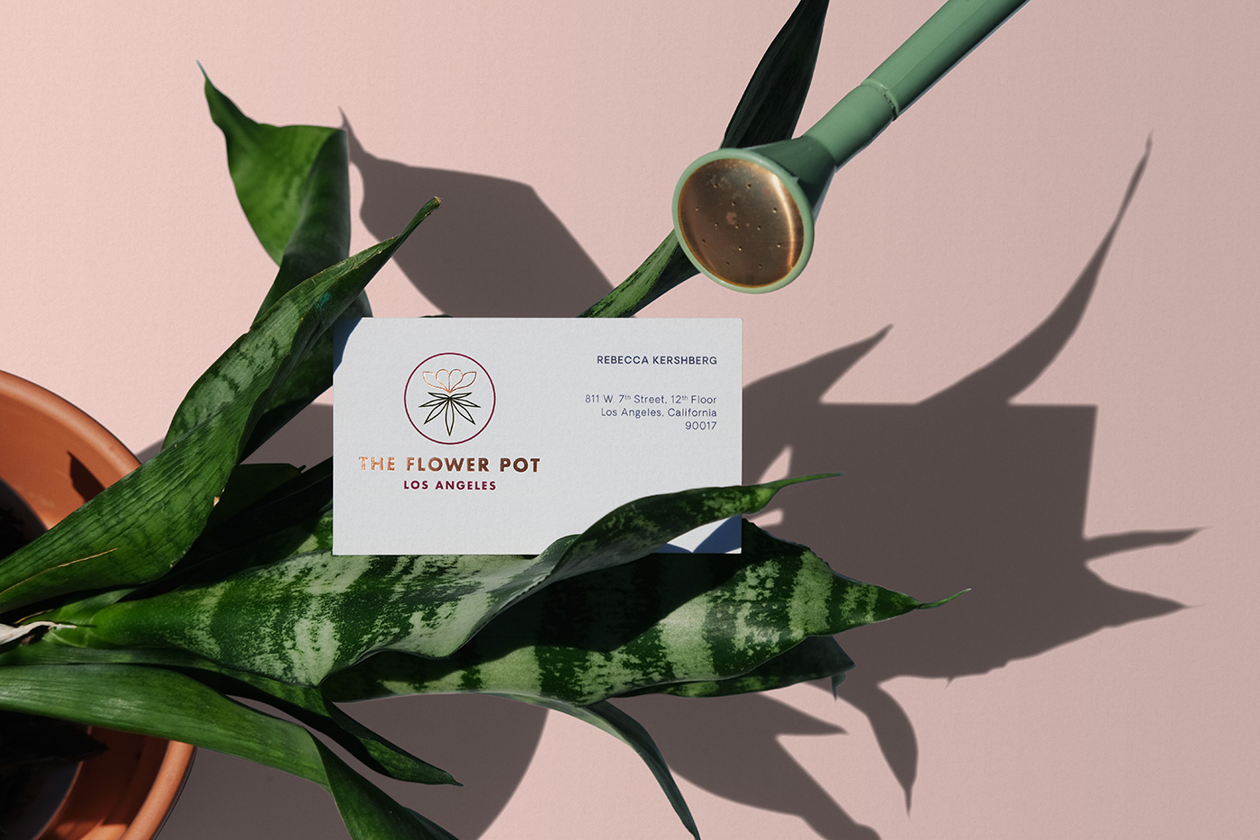 Outfit Branding & Design The Flower Pot Business Card